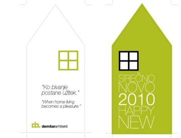 Identity redesign of the Ljubljana architects Demšar arhitekti business stationery - new years card