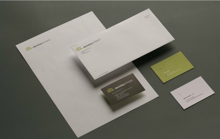Identity redesign of the Ljubljana architects Demšar arhitekti - business stationery