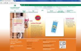 Awarded corporate and brands website of Ljubljanske mlekarne - brand homepage jost landing page