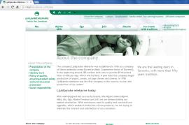 Awarded corporate and brands website of Ljubljanske mlekarne - corporate website about us