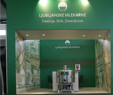 Human resources exhibition stand for leading dairy in Slovenia Ljubljanske mlekarne 1
