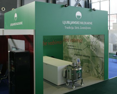 Human resources exhibition stand for leading dairy in Slovenia Ljubljanske mlekarne 2
