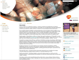 New corporate website in Slovene for the pharmaceutical company GSK - landing page
