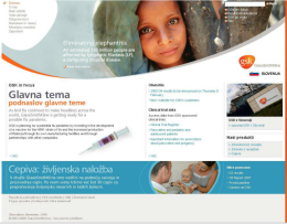 New corporate website in Slovene for the pharmaceutical company GSK - product page