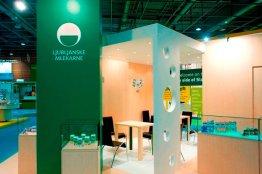 Exhibition stand in Paris for the leading dairy in Slovenia Ljubljanske mlekarne 2