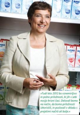 Annual report Ljubljanske mlekarne - Cvetana Rijavec - President MNB - 2011 - Vizuarna - 365i