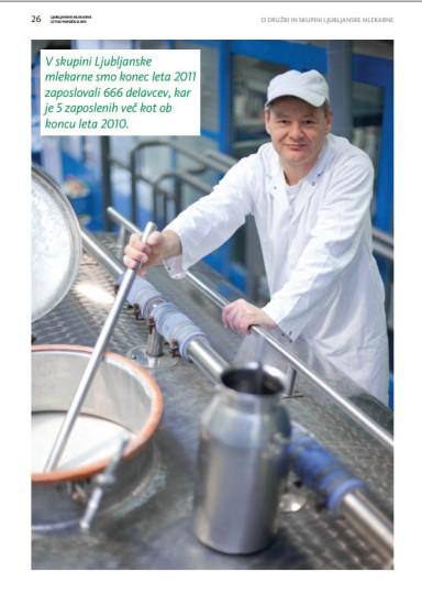 Annual report Ljubljanske mlekarne - human resources - 2011 - Vizuarna - 365i