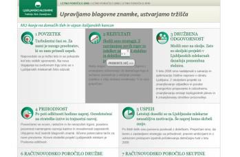 Interactive annual report Ljubljanske mlekarne - cover page - 2008 - Vizuarna - 365i