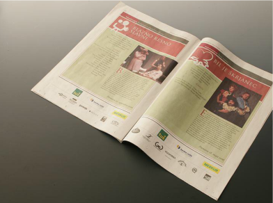 New identity of the festival Days of the comedy - newspaper spread 3