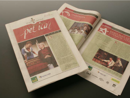 New identity of the festival Days of the comedy - newspaper spread