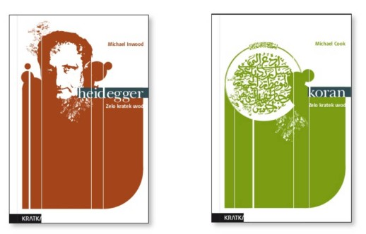 Identity book cover design guidelines A Very Short Introduction Kratka - covers Heidegger Koran